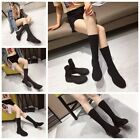 New Knit Boots Breathable Flat Comfort Women's Socks Stretch Martin Boots