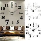 3D DIY Extra Large Numerals Luxury Mirror Wall Sticker Clock Home Decor F0C8Q