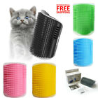 Pet Cat Dog Wall Corner Massage Self Groomer Rubber Comb Toy Brush Cleaner
