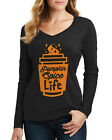 Threadrock Women's Pumpkin Spice Life Long Sleeve V-Neck T-Shirt