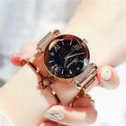 Fashion Starry Sky Quartz Watch Magnet Strap Free Buckle Stainless Steel Women
