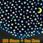 100x Wall Glow In The Dark Stars Stickers Baby Kids Nursery Bed Room Ceiling Uk