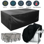 Garden Patio Furniture Cover Waterproof Rectangle Outdoor Table Cover Black