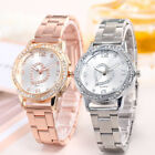 Luxury Womens Ladies Steel Stainless Analog Quartz Round Wrist Watch Watches ST image