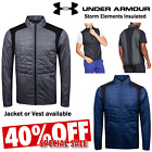 UNDER ARMOUR MENS STORM THERMAL INSULATED FULL ZIP PADDED GOLF JACKET OR VEST