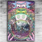 K032 Art Poster Rick And Morty Hot USA Cartoon Series