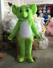 Green Elephant Mascot Costume Suit Cosplay Fancy Dress Outfit  Hallowee Adult @