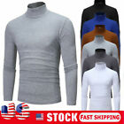 US Men's Warm Cotton High Neck Pullover Jumper Sweater Tops Turtleneck Shirts
