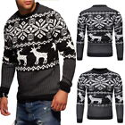 Men Christmas Pullover O-neck Long Sleeve Knitted Sweaters Warm Wool Coats 03