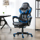Купить Gaming Chair Racing Style Leather Office Recliner Computer Seat Swivel Footrest