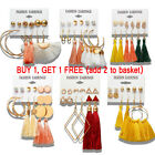 Kyпить Women Bohemian Fashion Rhinestone Long Tassel Hook Fringe Dangle Drop Earrings на еВаy.соm