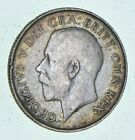 Roughly Size of Quarter - 1921 Great Britain 1 Shilling - World Silver Coin *745