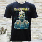 NWT IRON MAIDEN ROCK METAL BAND MUMMY GRAPHIC MEN'S NAVY T-SHIRT SIZE S M L XL image