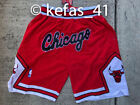 NEW Chicago Bulls MEN's RED Throwback Just Don Summer League Basketball Shorts