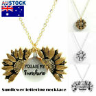 """you Are My Sunshine ""open Locket Sunflower Pendant Necklace Women Fashion  6j"
