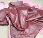 BR701 Leather Cow Hide Cowhide Upholstery Craft Fabric Burgundy