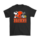 Vintage The Cleveland Browns Joe Cool And Woodstock Snoopy Mashup T-Shirt J281 image