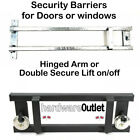 Double Secure Shed Door SECURITY BARRIER 2 Types BOLTS & PADLOCK Made in England
