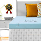 2.5''/3''/4'' Blue Lavender Memory Foam Mattress Topper - Queen King Twin Full image