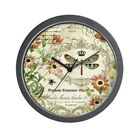 CafePress Modern Vintage French Dragonfly Wall Clock (1053476477)
