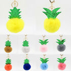 Lovely 8CM Plush Ball Fluffy Pineapple Keyring Pendant Bag Charm Accessories