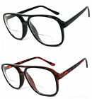 1 or 2 Pairs 70-80's IT Style Nerd Geek Bifocal Reading Glasses Large Bold