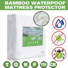 Kyпить Bamboo Mattress Cover Fitted Bed Protector Pad Topper Twin King Queen Waterproof на еВаy.соm