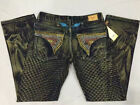 Free Shipping Mens Robin Jeans with Studs Crystals Men's Designer Pants sz 32-42