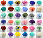 Czech  22g 2mm/3mm/4mm Round Lot Colorful Glass Loose Beads DIY Jewelry Making