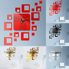 Large Wall Clock Big Watch Decal 3D Stickers Roman Numerals DIY Wall Modern #FI
