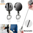 Retractable Key Chain Heavy Duty Steel Recoil Ring Belt Clips Pull Keychains New
