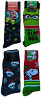 Men's Licensed Ugly Christmas Sweater Socks Snoopy Nightmare Oscar Rugrats