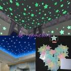 100pcs Star Wall Stickers Decal Glow In The Dark Baby Kids Bedroom Home Decor Hc