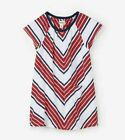 HATLEY Red & Navy Striped T-Shirt Dress 7 NWT