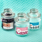 25-96 Personalized Glass Candy Cookie Jar - Baby Shower Baptism Party Favors