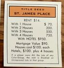 Monopoly Title Deed Cards Park St. James St. Charles Place 1935, 1946, 1961