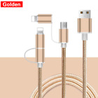 2 in 1 Charging Cable Fast Charger USB Data Cable For iPhone Android