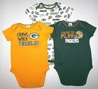 New Green Bay Packers Logo SS Bodysuit Romper Top Shirt Snaps Football NFL Baby $12.99 USD on eBay