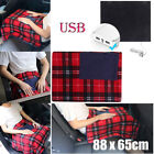 Electric Heated Winter Warm Blanket Cover Car Office Use  Heater 5V USB Portable image