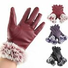 Womens Warm Leather Gloves Motorcycle Three Finger Touch Screen Driving Winter $6.64 USD on eBay