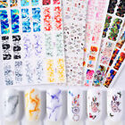 12 Patterns/Sheet Nail Water Decals Transfer Stickers Marble Grain Flowers Tips