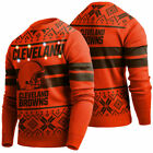 NEW 2019 Cleveland Browns MEN Light Up Ugly Sweater Christmas Holiday NWT $52.95 USD on eBay