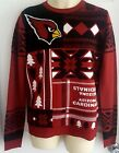 ARIZONA CARDINALS Mens Sweater Small Ugly Christmas Holiday Red Klew New $35.56 USD on eBay