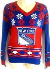 NEW YORK RANGERS Womens Sweater Small or Medium Ugly Christmas Holiday Red Blue $29.95 USD on eBay