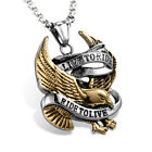 Live To Ride Mens Bald Eagle Motorcycle Biker Pendant Chain Fashion Jewelry Gift