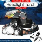 900000Lumens High Power XHP50 Zoom Flashlight LED Rechargeable Torch Headlamp