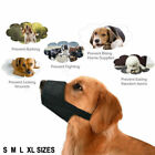 Black Pet Adjustable Dog Muzzle Fabric Nylon Comfortable Soft No Bark Bite Chew