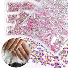 Flat Back 3D Nail Art Rhinestones Decoration AB Color Nail Tips Gems Sticker