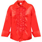 ADULTS 1970S DISCO RUFFLE SHIRT 60 PARTY FRILLY NIGHT UNISEX FANCY DRESS COSTUME
