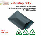 GREY RECYCLED Mailing Postal Packaging Bags 4.7 x 6.7